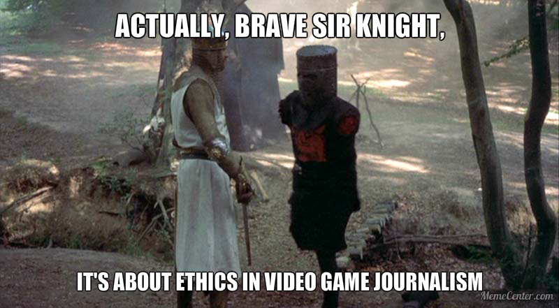 c96 monty python & the holy grail ethics in game journalism actually
