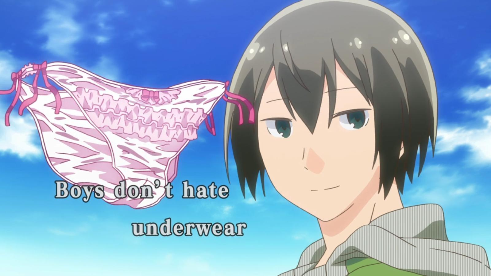 Boys Don T Hate Underwear Anime Sky Human Hair Color Cartoon Mangaka Forehead Black