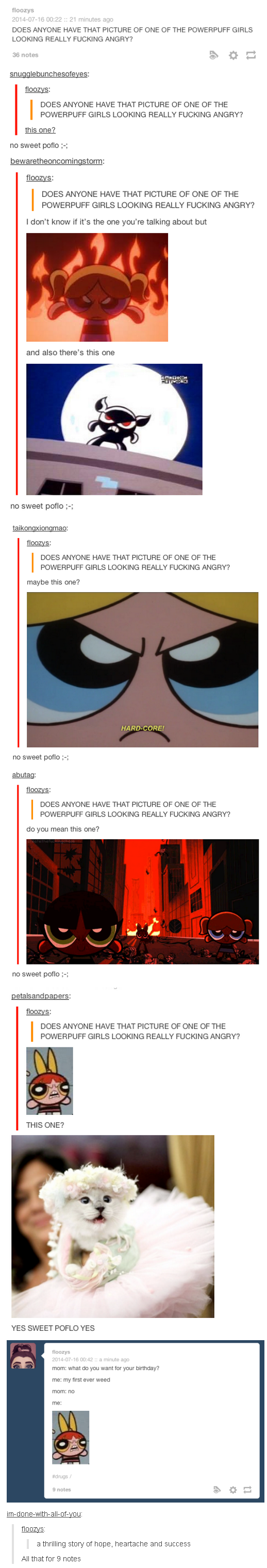does anyone have that picture of one of the powerpuff girls
