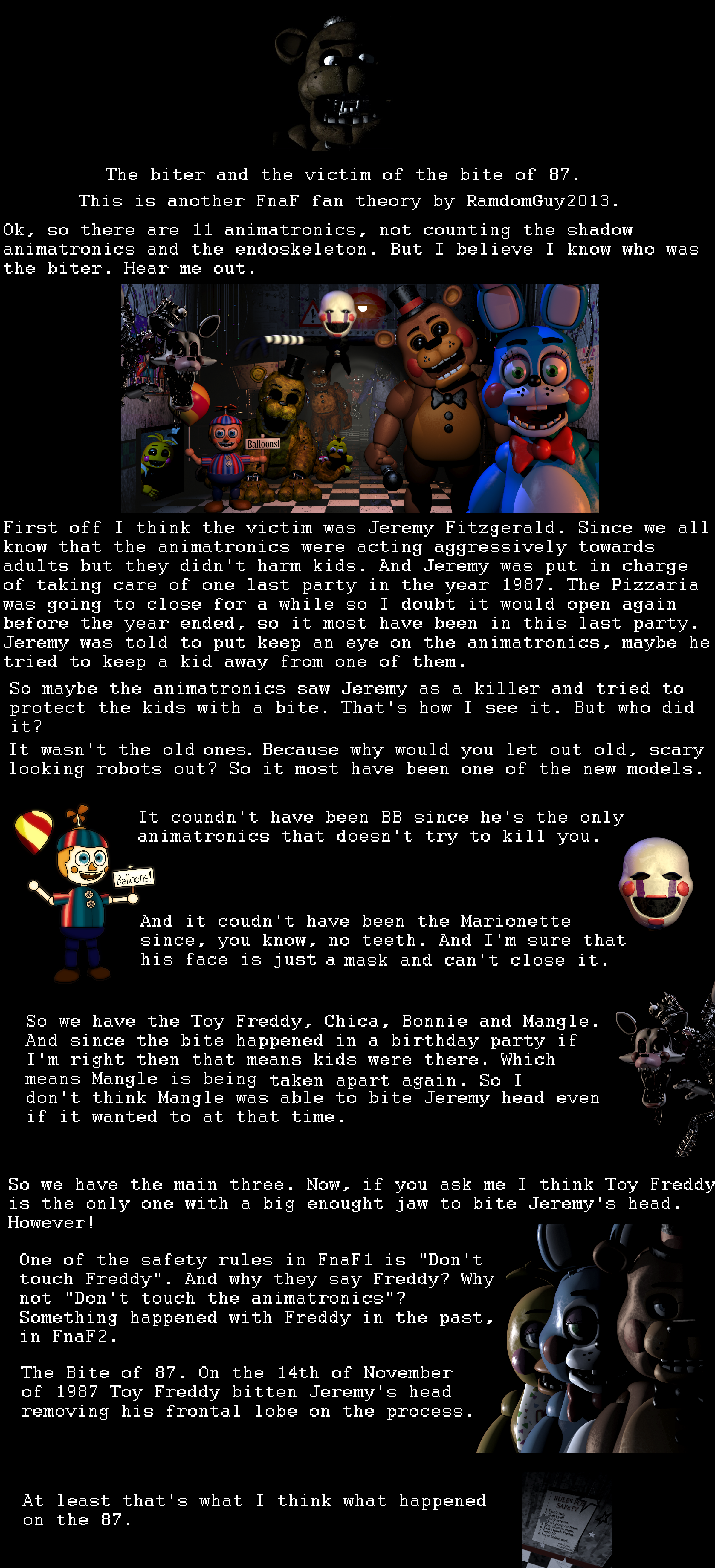 The Biter Of 87 A Fnaf Theory By Me Five Nights At
