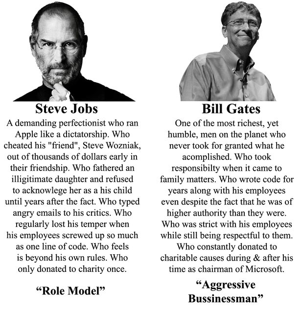 Steve Jobs Bill Gates A Demanding Perfectionist Who Ran Apple Like A  Dictatorship. Who Cheated  Steve Jobs Resume