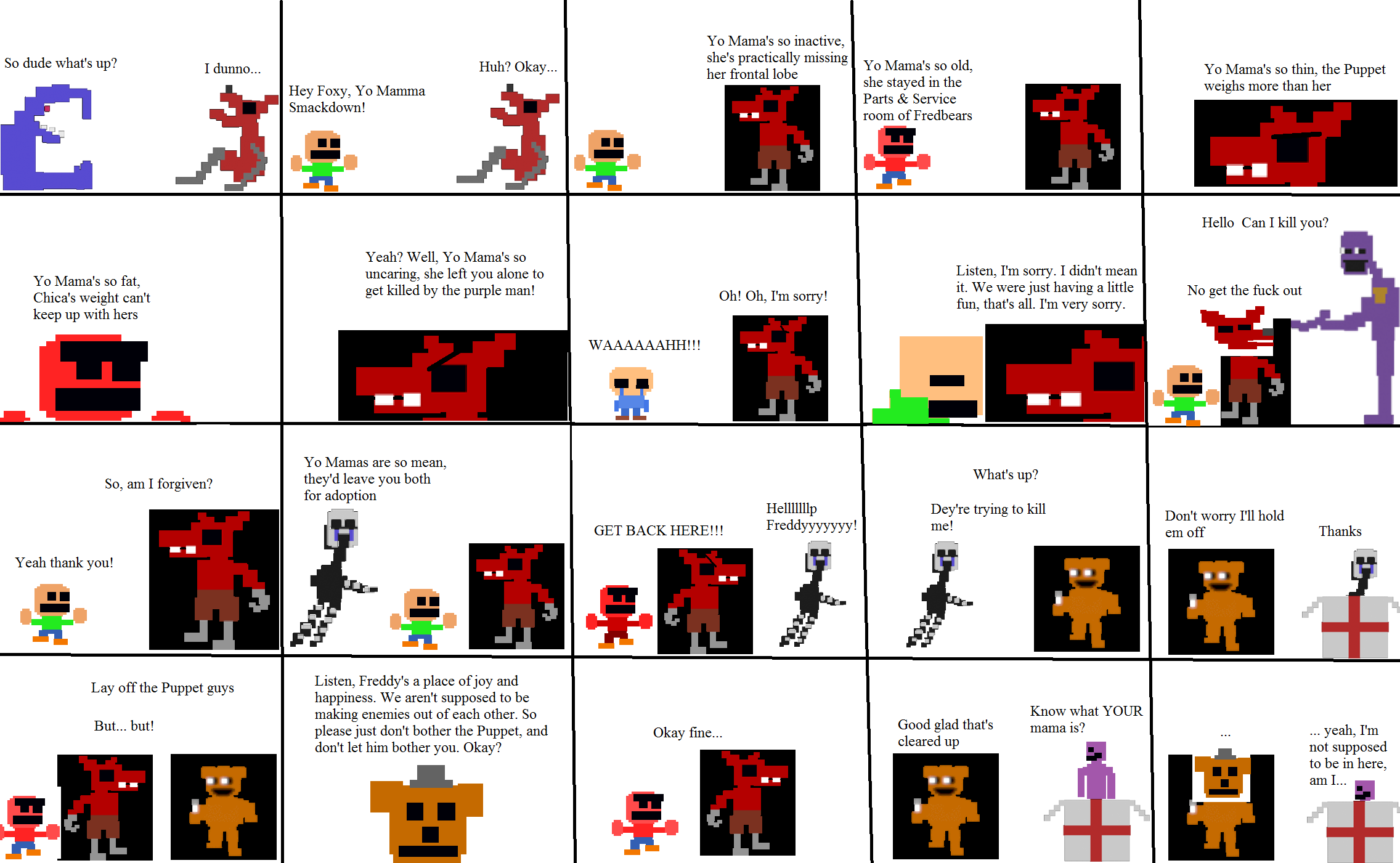 Pixel fnaf comic the yo mama five nights at freddy s know your