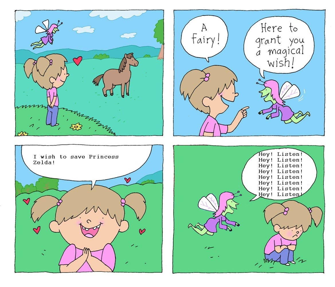 2d8 zelda fairy i wish i could talk to ponies know your meme