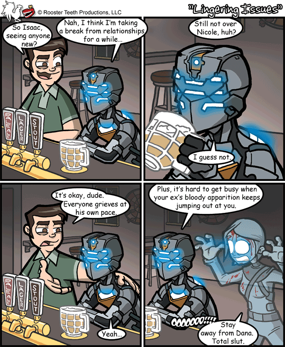 4e3 good ol' rooster teeth comics dead space know your meme