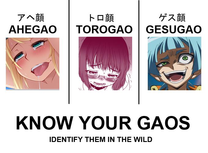 ahegao vs torogao vs gesugao ahegaokin   know