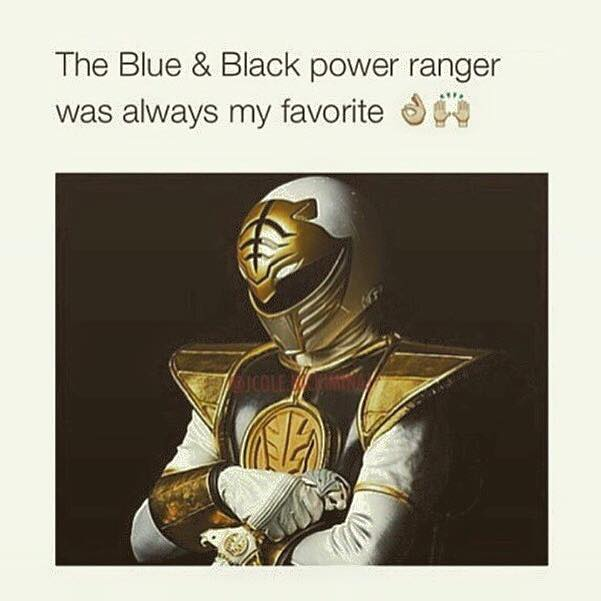 Blue And Black Power Ranger Thedress What Color Is