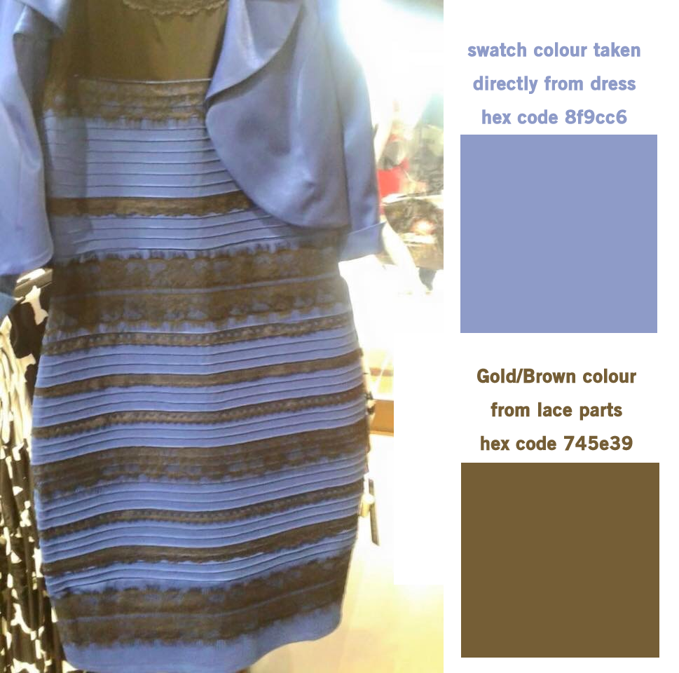 Blue and black dress illusion pictures