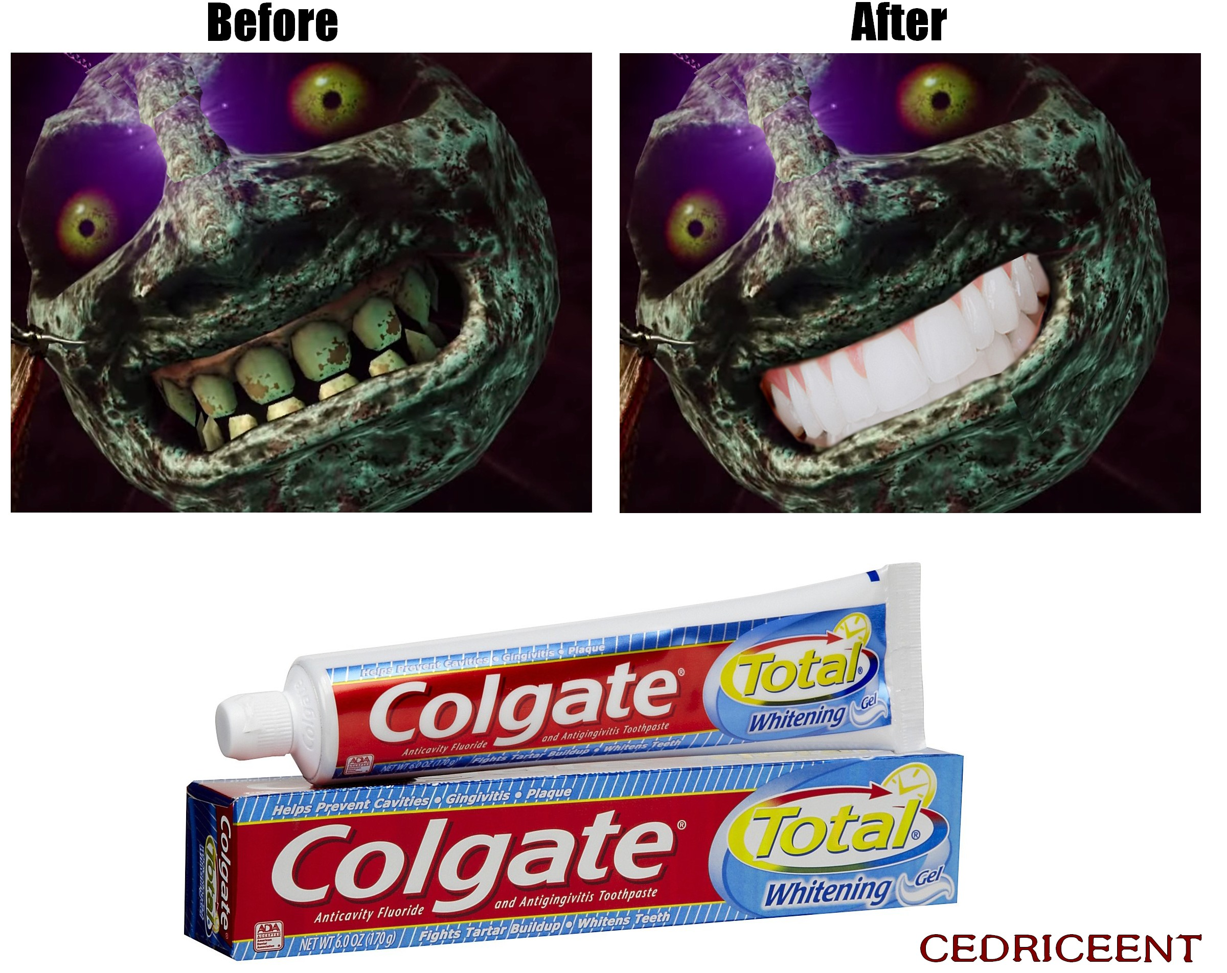 228 the solution for bad teeth the moon (majora's mask) know your meme