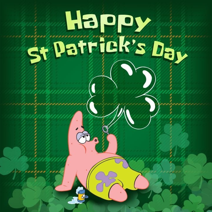 ff3 a happy st patrick's day spongebob squarepants know your meme