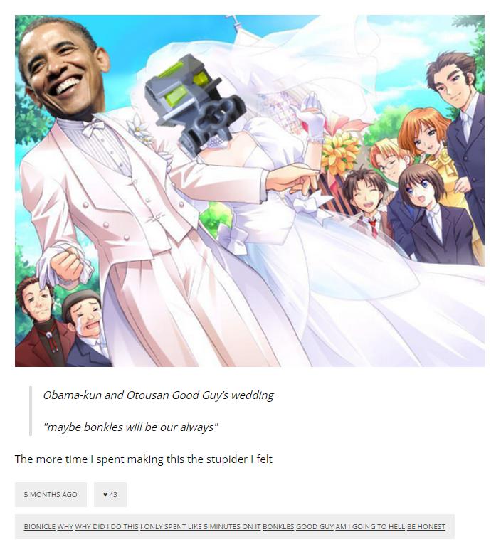 309 obama kun and otousan good guy's wedding \