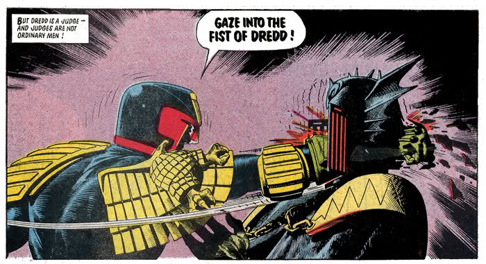 Booties gaze into the fist of dredd need