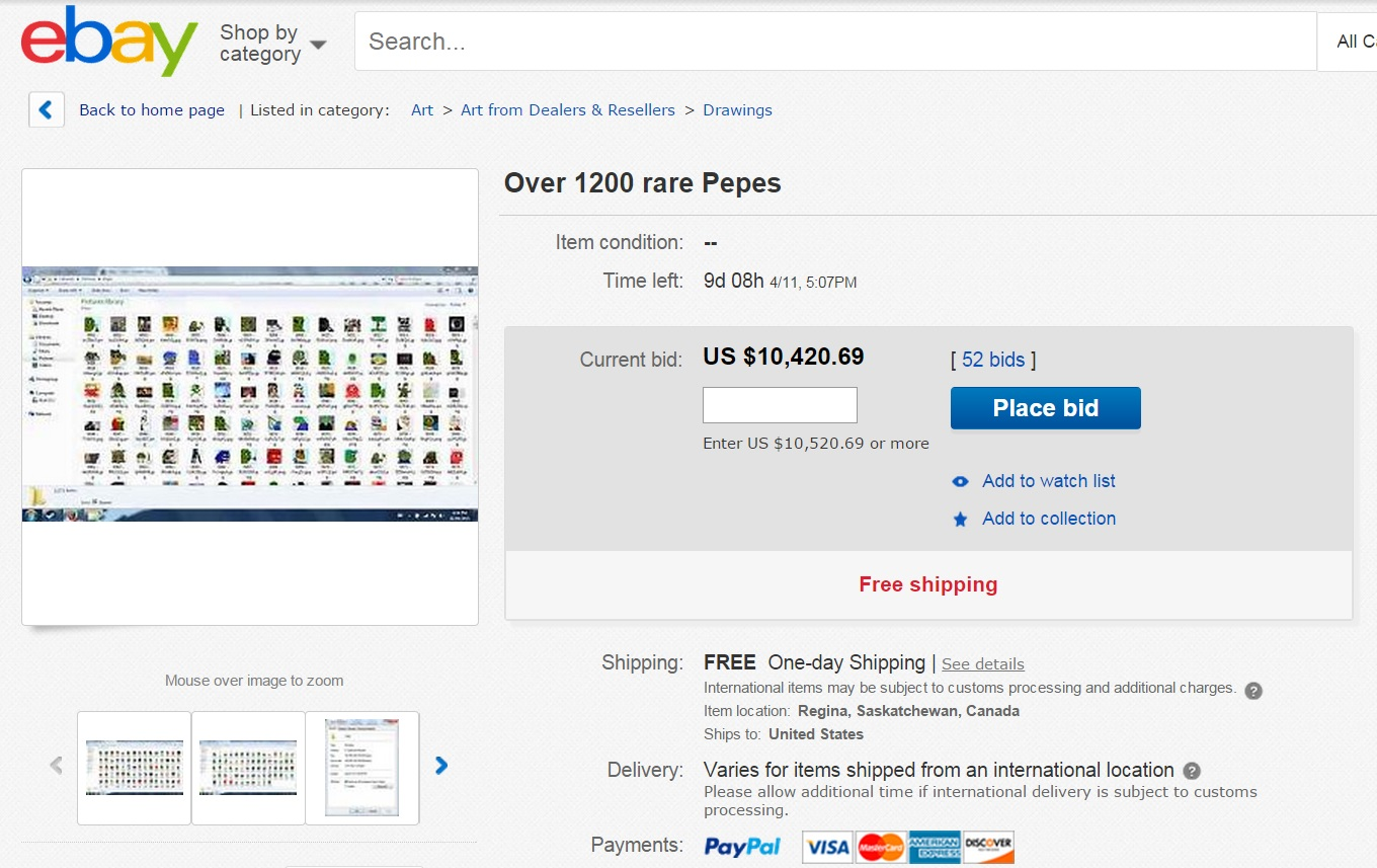 Rare pepes sold for thousands on Ebay | Pepe the Frog | Know Your Meme