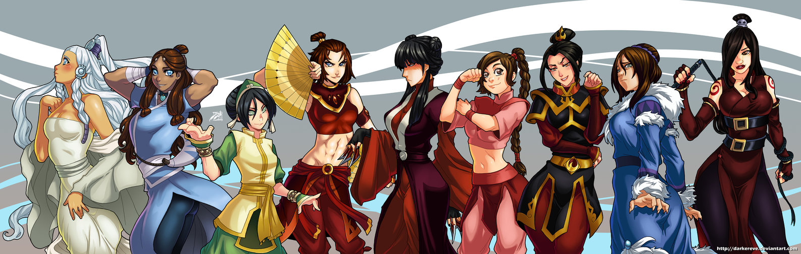 Women of avatar avatar the last airbender the legend of korra httpdarkereve avatar the last airbender aang the legend of korra voltagebd Image collections