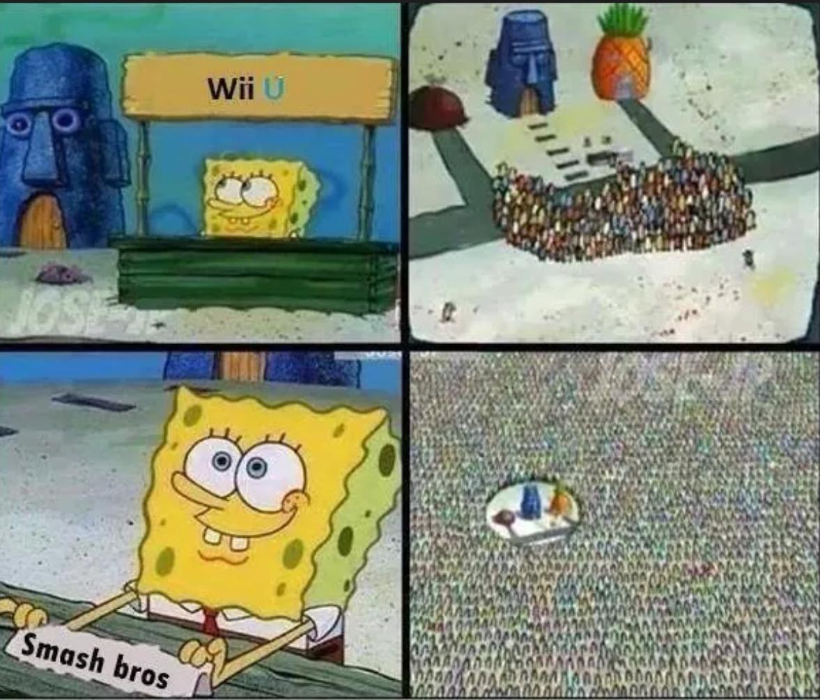 91c wii u spongebob's hype stand know your meme