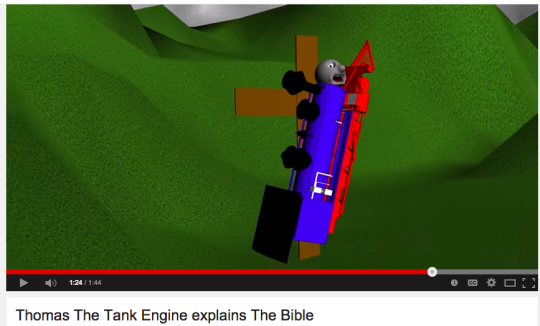 Thomas the tank engine explains the bible