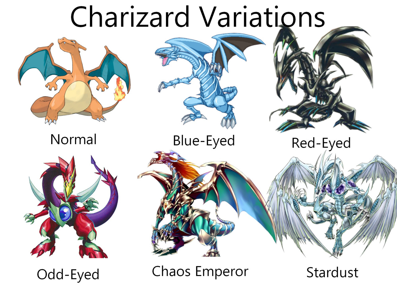 charizard variations pokemon variants know your meme