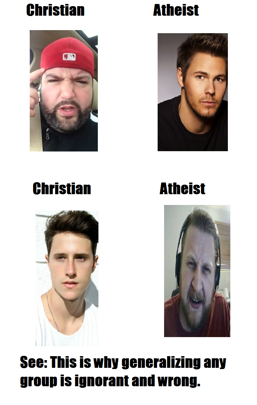 4b5 for anyone who stereotypes atheists as neckbeards, this is my one