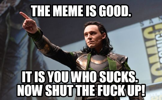 e12 the meme is good it is you who sucks now shut the fuck up
