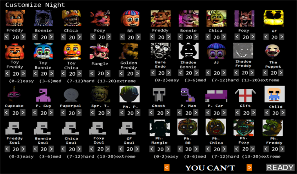 Ultimate Custom Night Five Nights At Freddy S Know