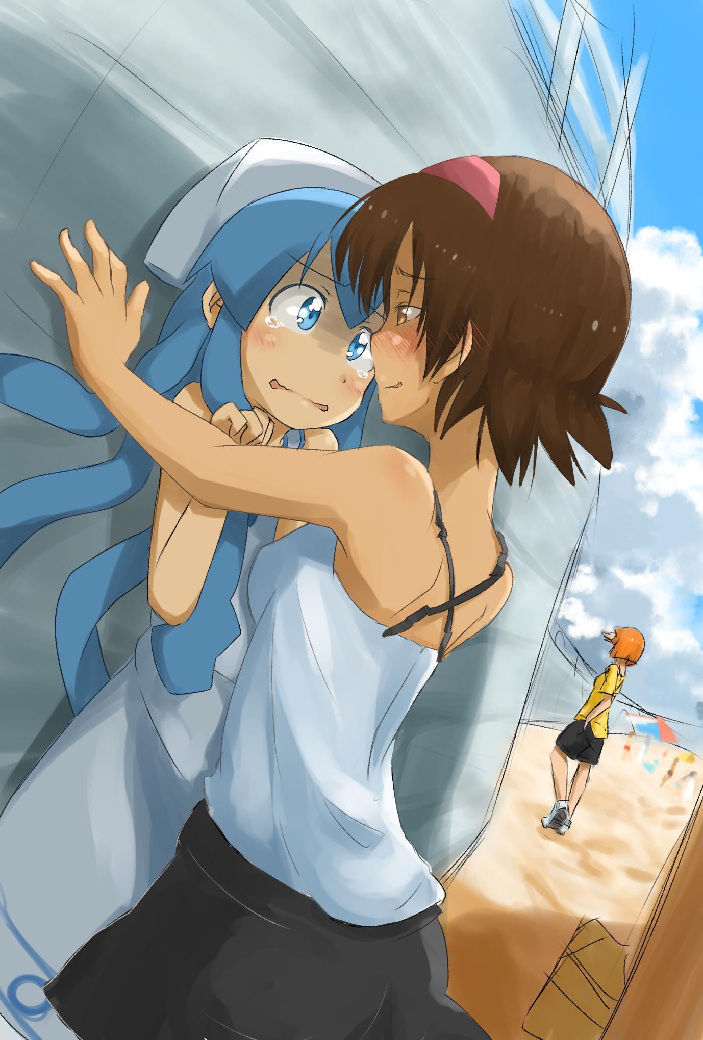 ika-chan gets harrassedsanae   squid girl / shinryaku! ika