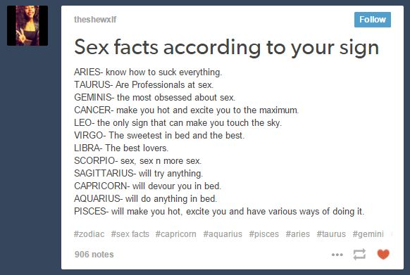 Most Sexual Zodiac Sign