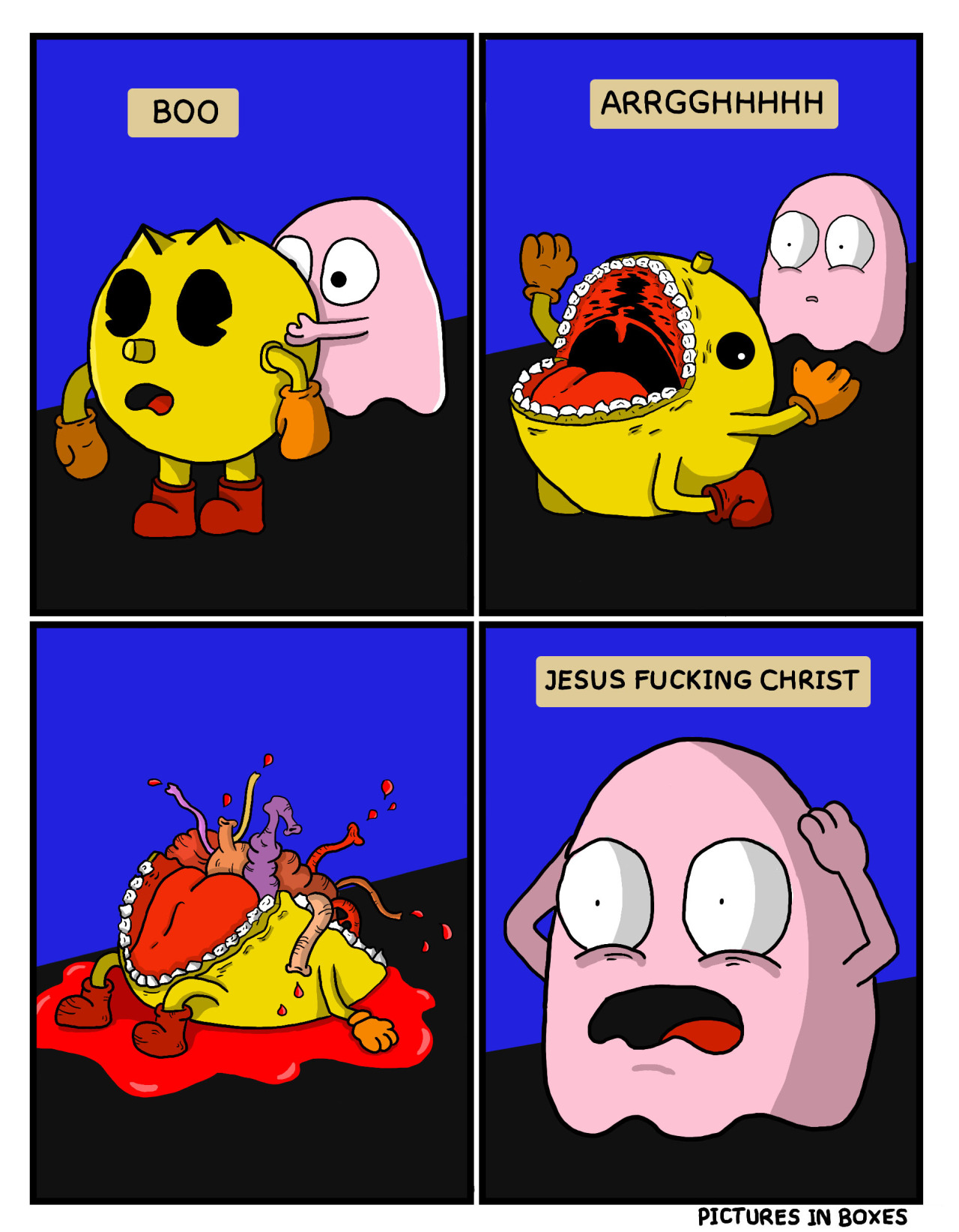 c19 omg! what is happening? pac man know your meme