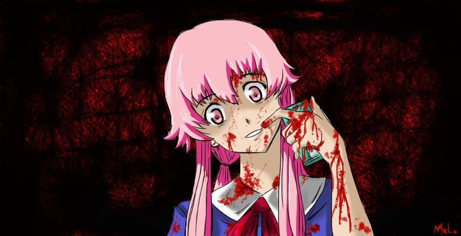 Mirai Nikki Gasai Yuno Yandere Anime Anime Girls: Mirai Nikki / Future Diary
