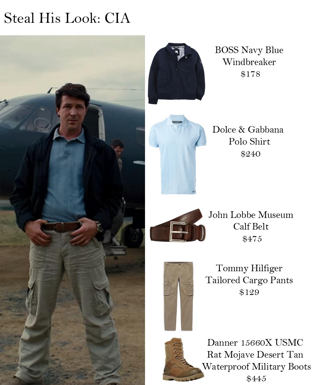 Steal His Look: CIA BOSS Navy Blue Windbreaker $178 Dolce & Gabbana Polo  Shirt $240