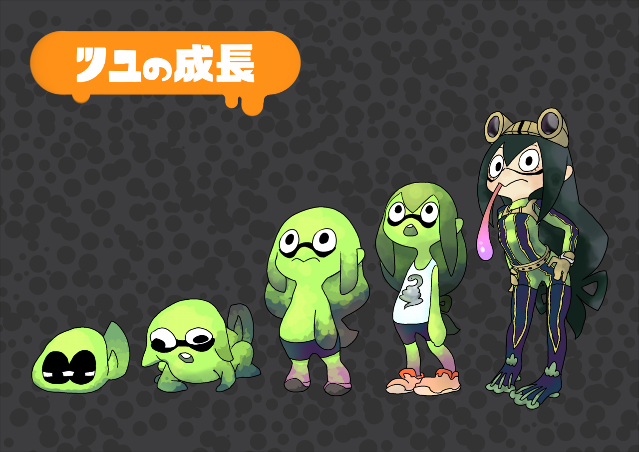Inkling Splatoon Belly Button: Also Avalible In Frog