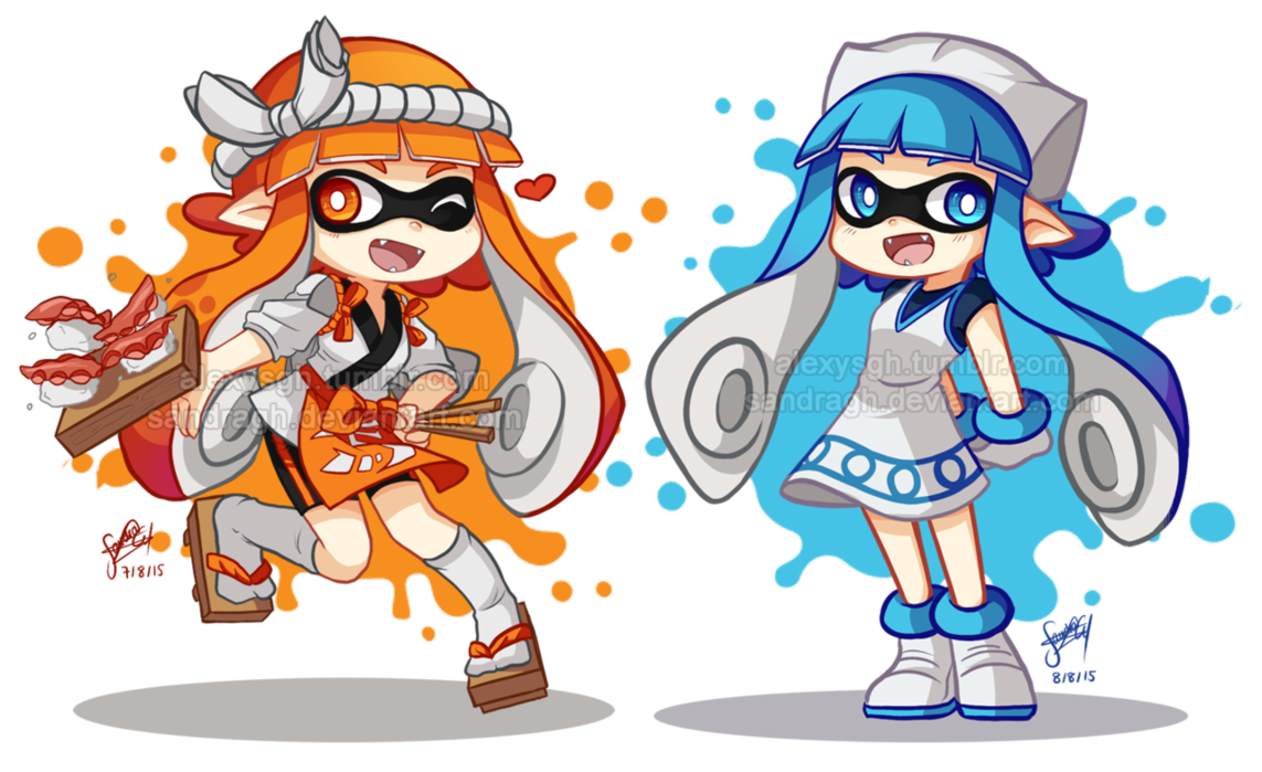 Sushi Chef And Ika Musume Inklings Splatoon Know Your Meme