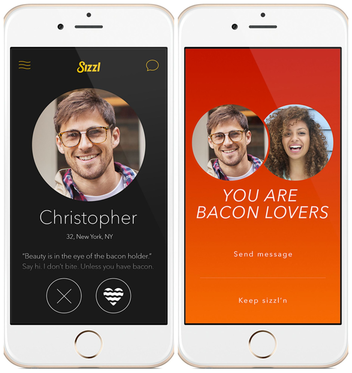 3d8 sizzl dating app bacon know your meme