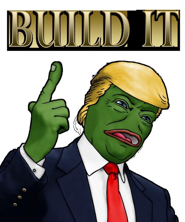 4c6 rare trump build it donald trump know your meme,Know Your Meme Pepe