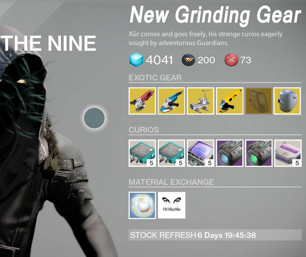 new grinding gear from xur