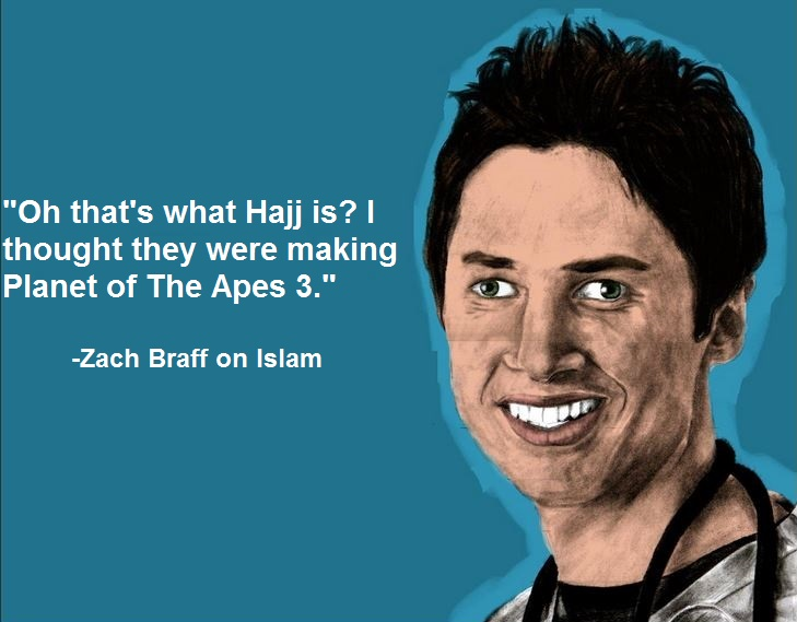 1fa zach braff on islam zach braff facts know your meme