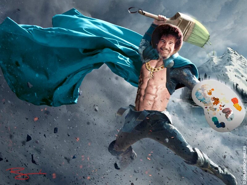 Beat the devil out of it bob ross know your meme bob ross water extreme sport voltagebd Gallery