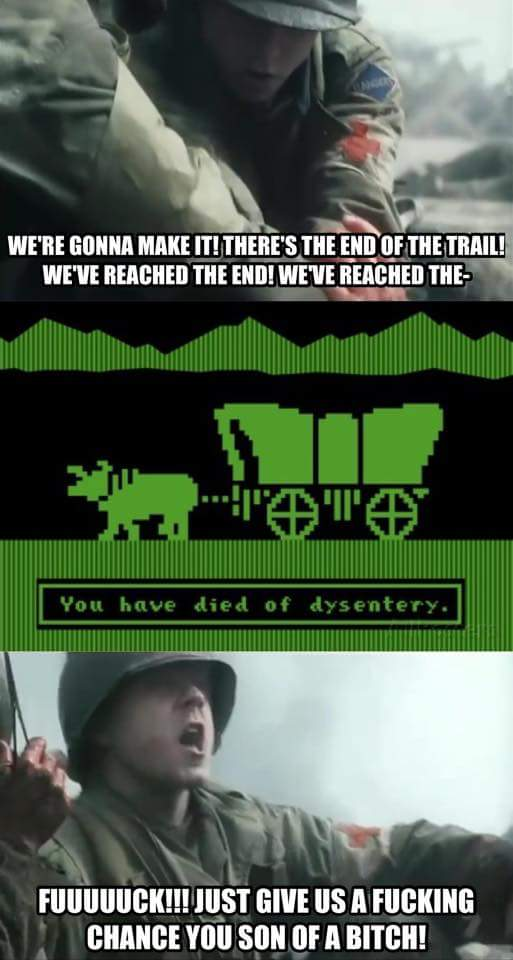 480 saving oregon trail you have died of dysentery know your meme,Oregon Trail Meme