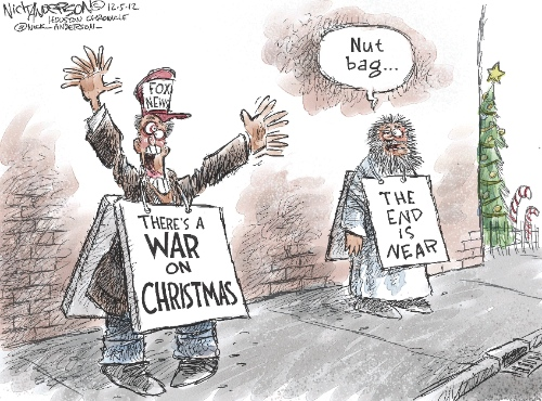 Editorial Cartoon | The War On Christmas | Know Your Meme