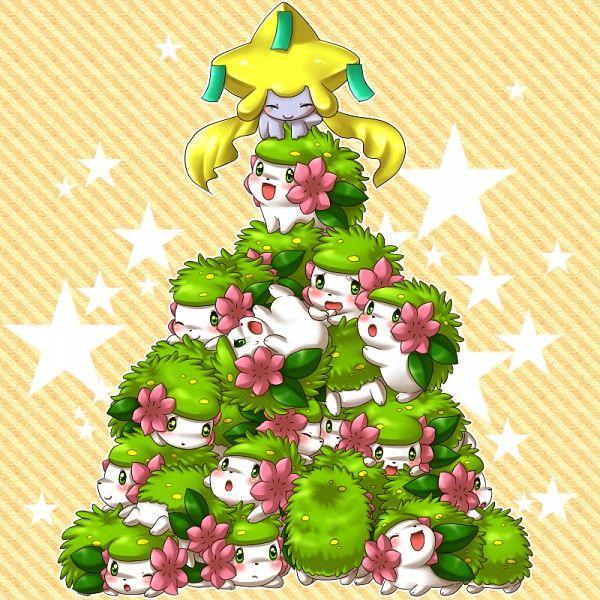 Jirachi and Shaymins forming a Christmas Tree | Pokémon | Know ...