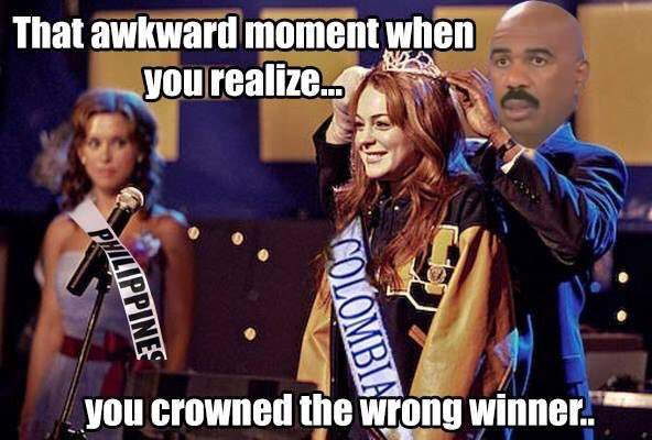 Funny Meme Miss Universe 2015 : That awkward moment steve harvey s miss universe