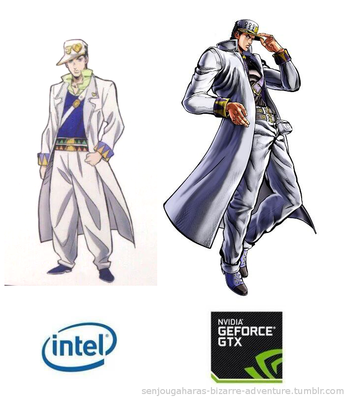Only got budget money jojos bizarre adventure know your meme intel nvidia geforce gtx senjougaharas bizarre adventuretumblr voltagebd Gallery