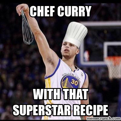 180 lol he's a chef xd stephen curry know your meme