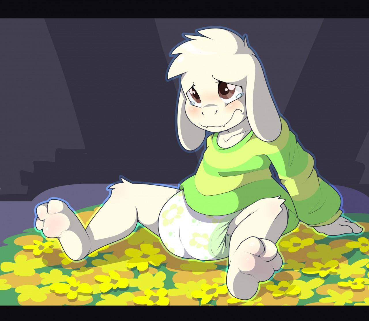 Undertale Diaper Cartoon Green Yellow Mammal Vertebrate Fictional Character