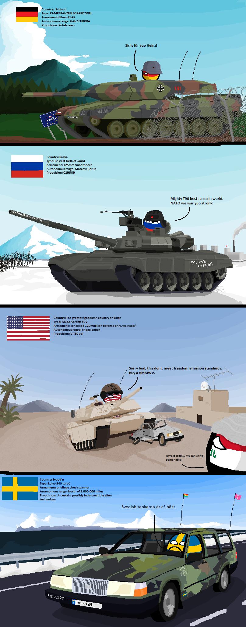 Tanks Around The World Polandball Know Your Meme