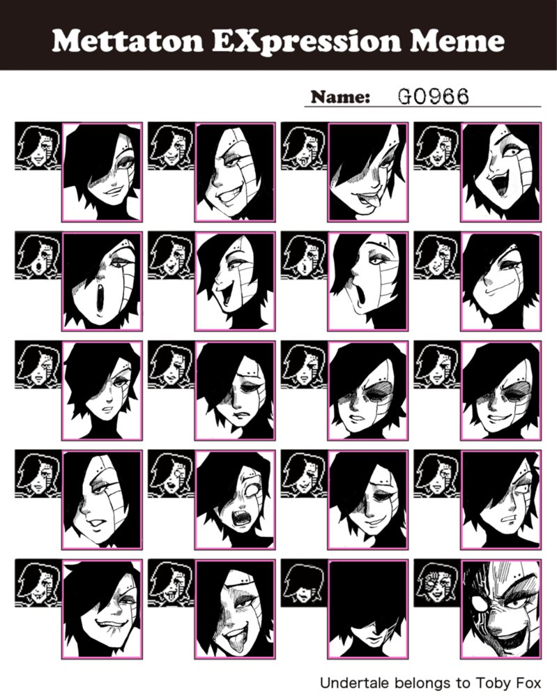 Funny Facial Expressions Meme : Mettaton expression meme undertale know your