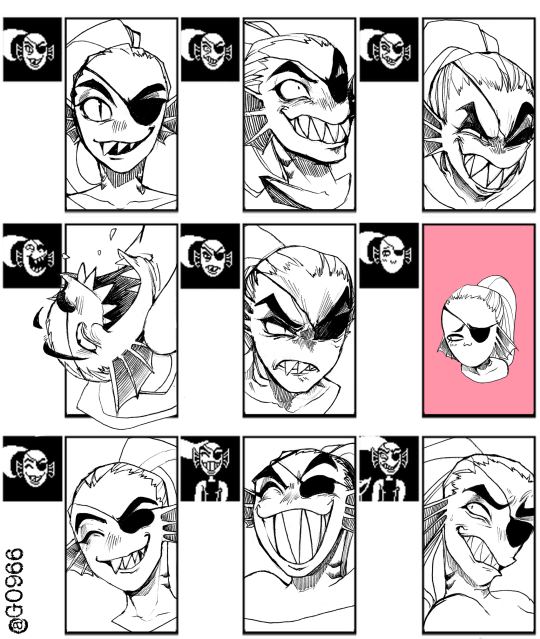 Undyne Expressions Meme Undertale Know Your Meme - Hairstyle drawing meme