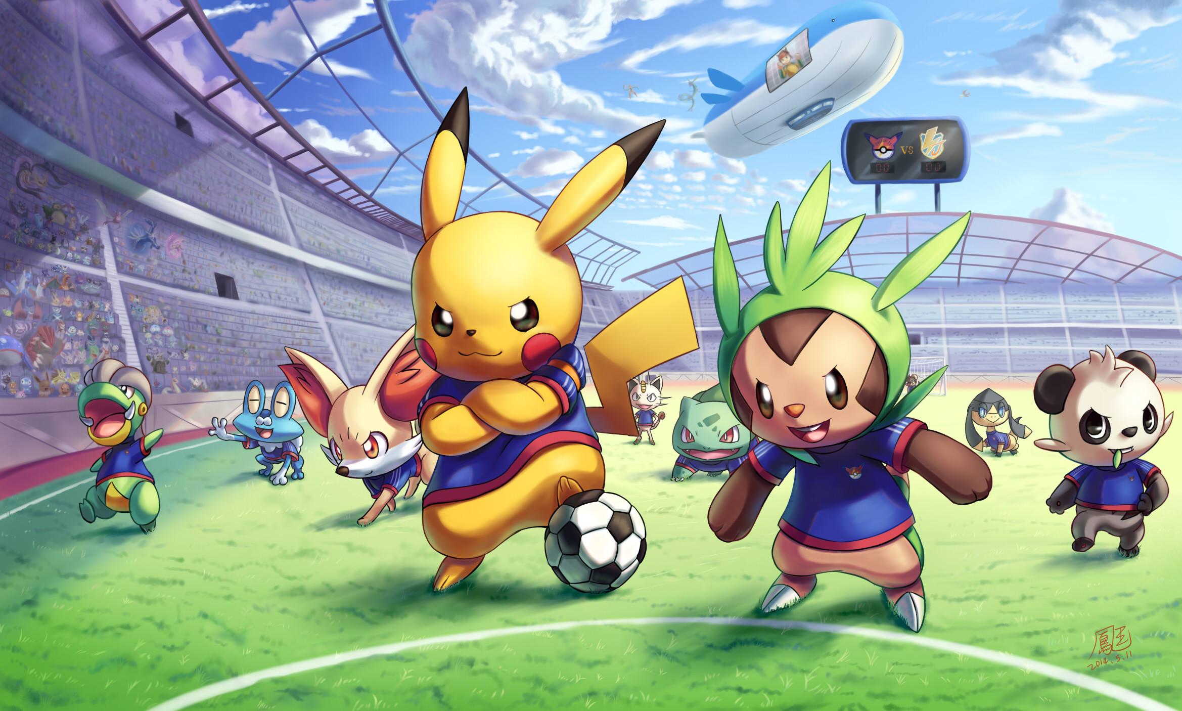 Pokemon GO Pikachu Games Cartoon Football Computer Wallpaper Ball