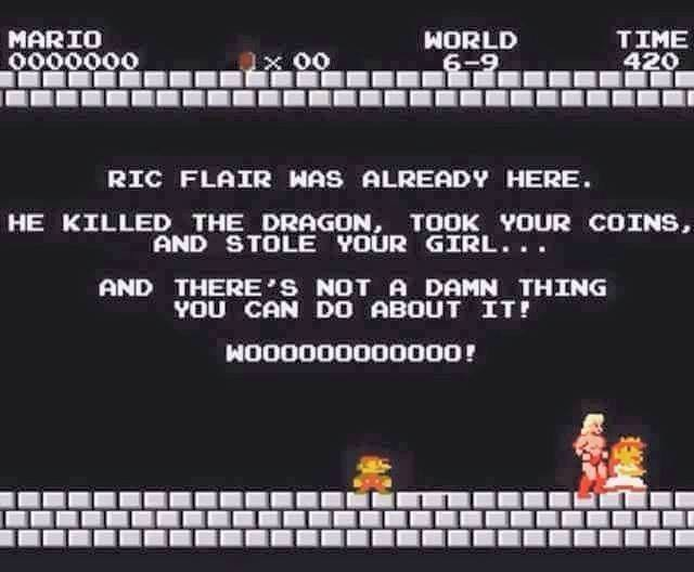 f9a ric flair was here super mario know your meme