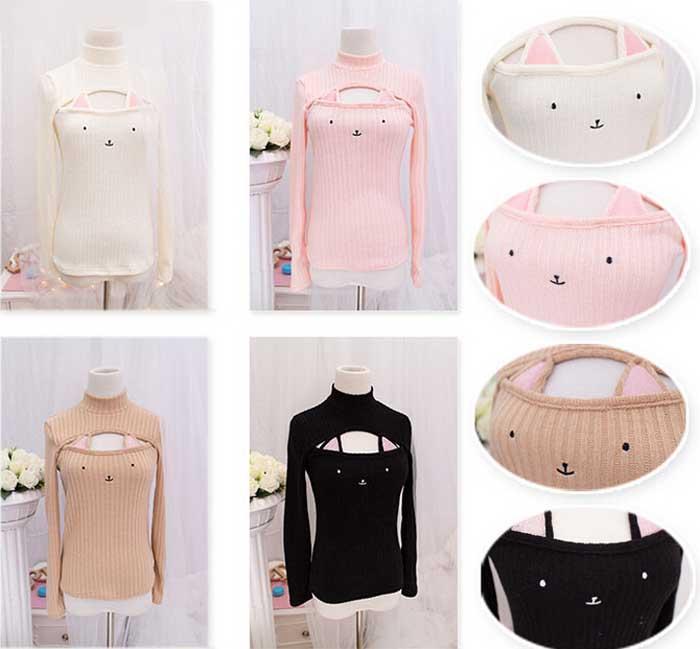 Harajuku Cat T Shirt Pink Clothes Hanger Shoulder Product Fashion Accessory Sleeve