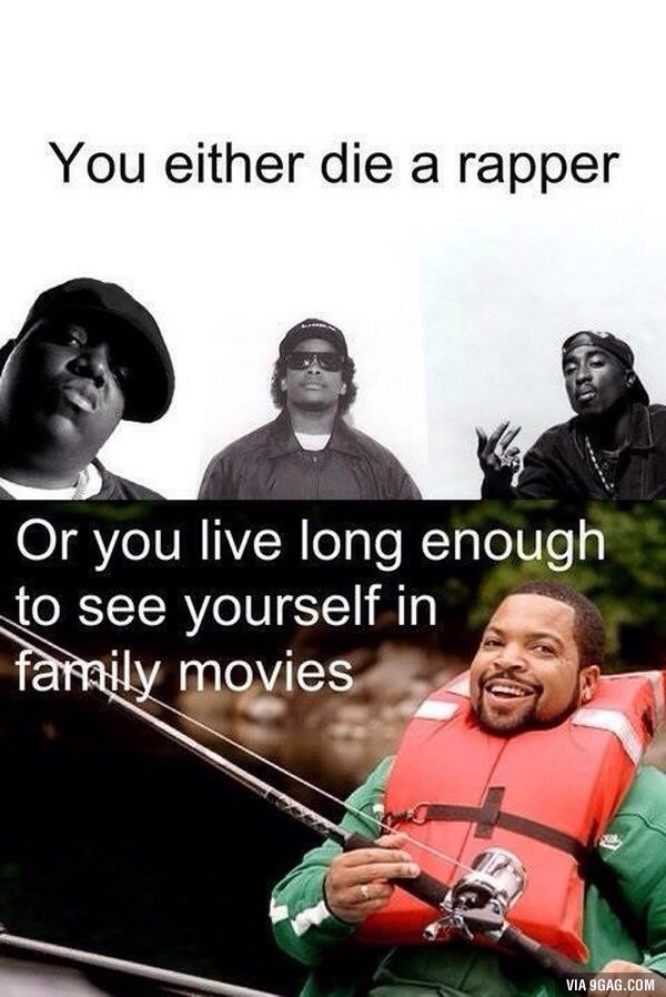 20a ice cube you either die a hero, or you live long enough to see,Ice Cube Meme