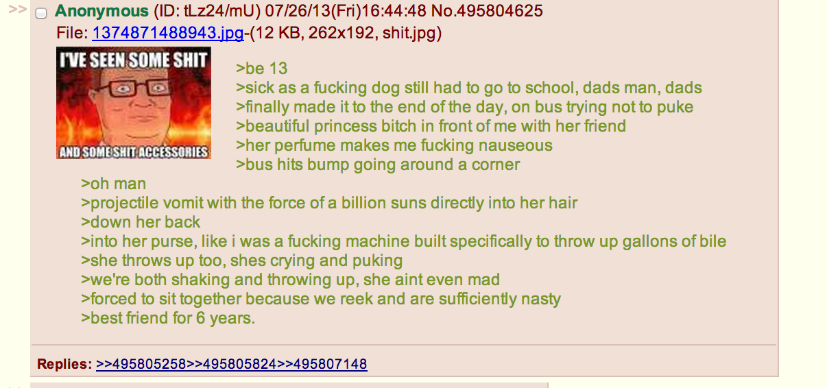 8df from 4chan green text stories know your meme